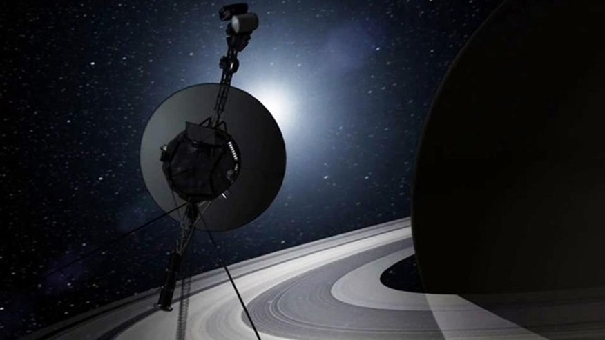 This artists rendering provided by NASA shows the Voyager spacecraft. Thirty-five years after leaving Earth, Voyager 1 is reaching for the stars.