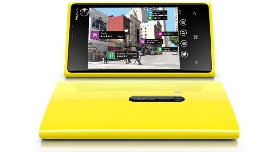 Nokia's flagship Lumia 920 smartphone, powered by the Windows Phone 8 operating system.