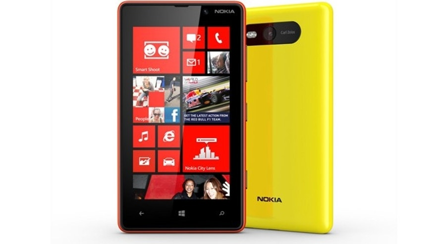 The Nokia Lumia 820, a new Window-powered smartphone.