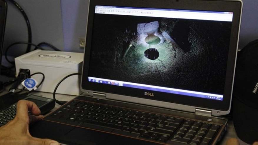 Sept. 10, 2012: A sonar image of the wreckage of the USS Hatteras emerges on a computer screen as part of a mapping expedition in the Gulf of Mexico off the Texas Coast Monday. The Hatteras was sunk in 1863 during a battle with a Confederate ship, the CSS Alabama.