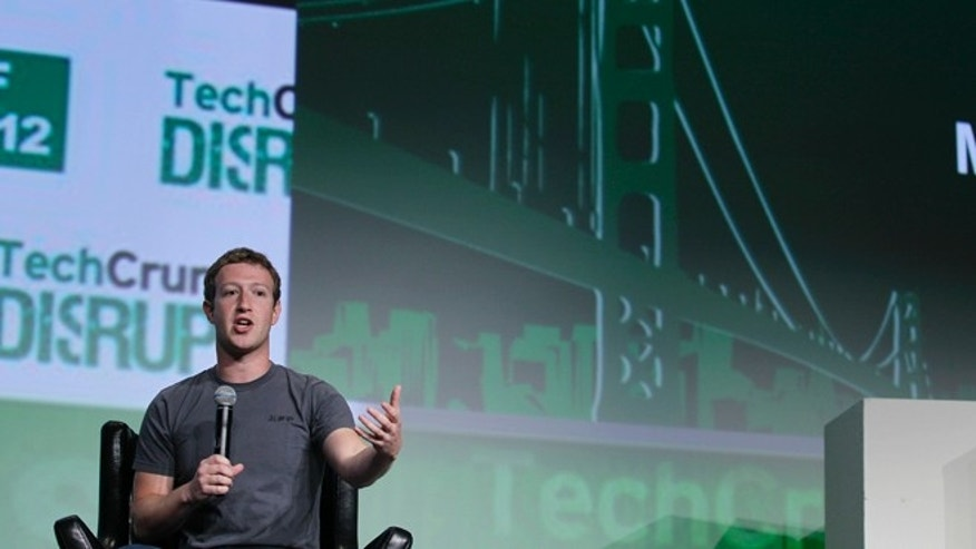 Sept. 11, 2012: Mark Zuckerberg speaks during a &quot&#x3b;fireside chat&quot&#x3b; in San Francisco.