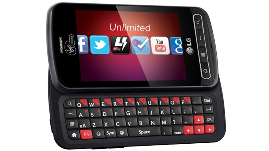The LG Optimus Slider, a popular smartphone on the Virgin Mobile service.