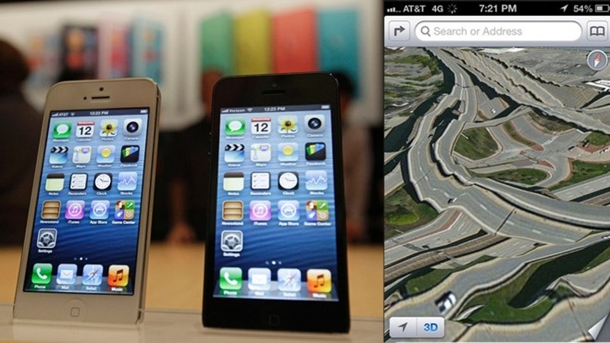 Apple's new built-in maps function -- seen here at right -- isn't quite ready for primetime, many angry consumers complain.