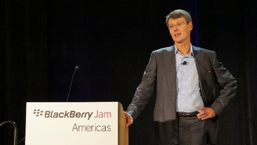 Sept. 26, 2012: RIM CEO Thorsten Heins discusses the company's new Blackberry 10 operating system at a company event.