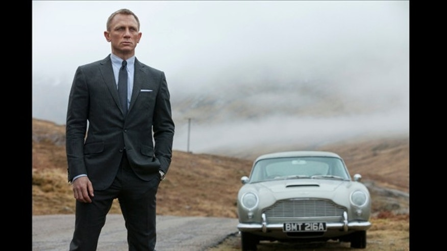 "Daniel Craig as James Bond in the action adventure film, ""Skyfall."""