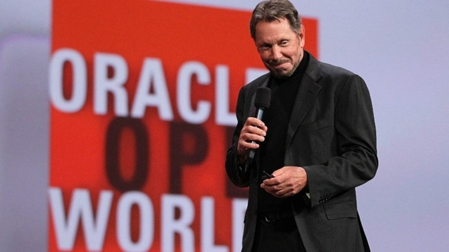 Oct. 2, 2012: Oracle CEO Larry Ellison begins his keynote address at Oracle OpenWorld in San Francisco. Ellison says he plans to turn the Hawaiian island that he recently bought into a laboratory for experimenting with more environmentally sound ways of living.