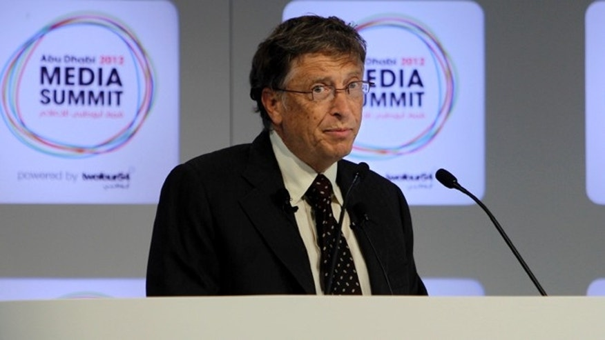 Oct. 9, 2012: Microsoft founder and philanthropist Bill Gates speaks during the opening session of  the Abu Dhabi Media Summit in United Arab Emirates.