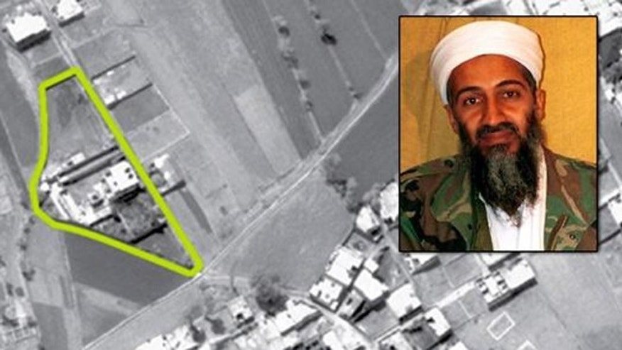 An aerial view of bin Laden's Abbottabad compound.