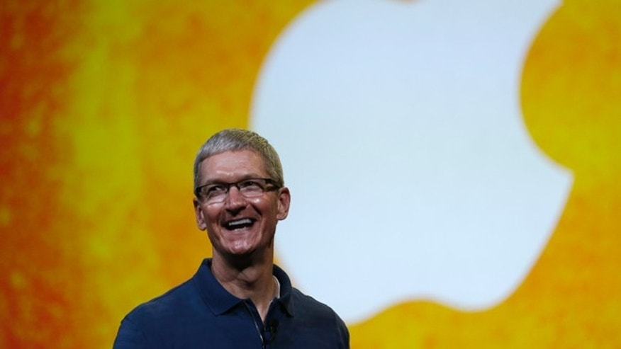 Oct. 23, 2012: Apple CEO Tim Cook speaks during an event to announce new products in San Jose, Calif.