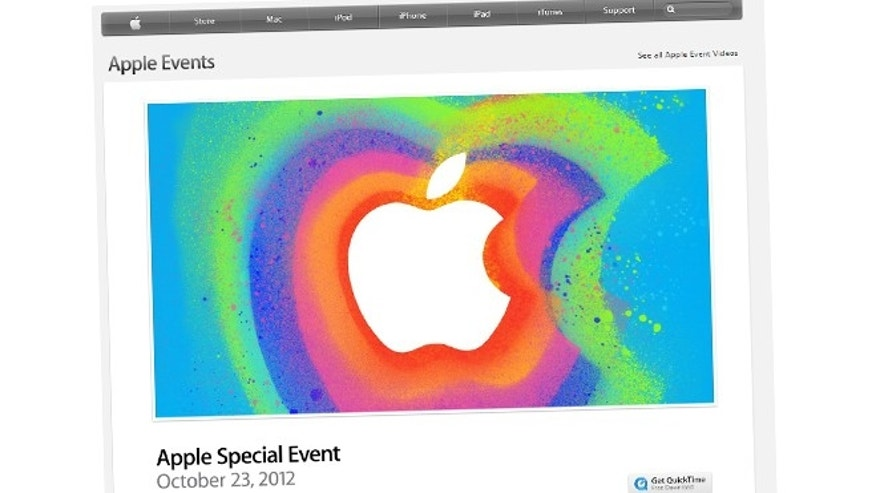 Oct. 23, 2012: The Apple.com website will stream the company's latest press conference live today for the first time in two years.