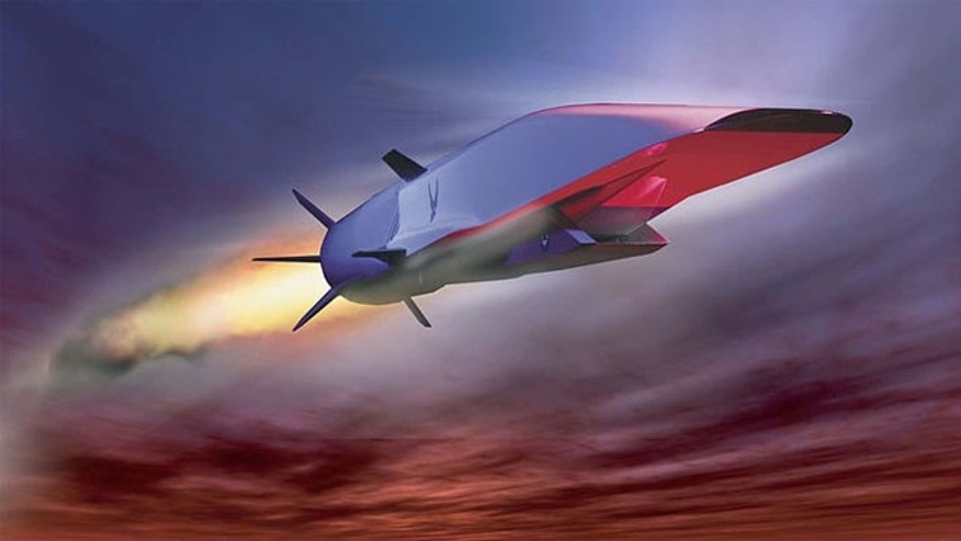 Artist&#39&#x3b;s concept of the X-51A WaveRider during flight
