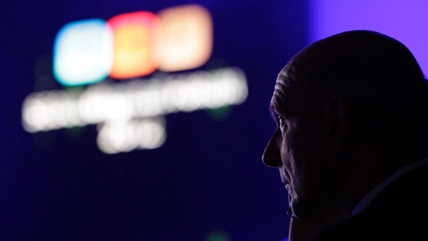 May 22, 2012: Microsoft CEO Steve Ballmer waits his turn to deliver a speech during Seoul Digital Forum in Seoul, South Korea.