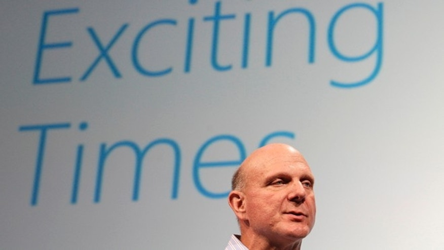 July 16, 2012: Microsoft CEO Steve Ballmer speaks at a Microsoft event in San Francisco.