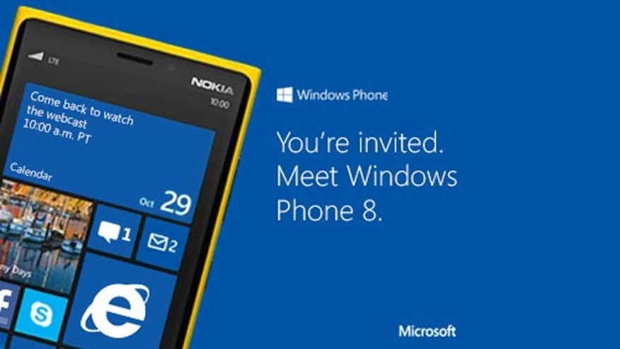 Oct. 29, 2012: An ad on Microsoft's website teases a Windows Phone 8 launch event.