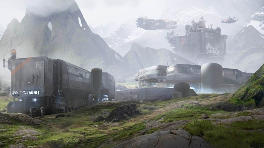 A scene from the video game Halo 4, released on Nov. 6 -- election day.