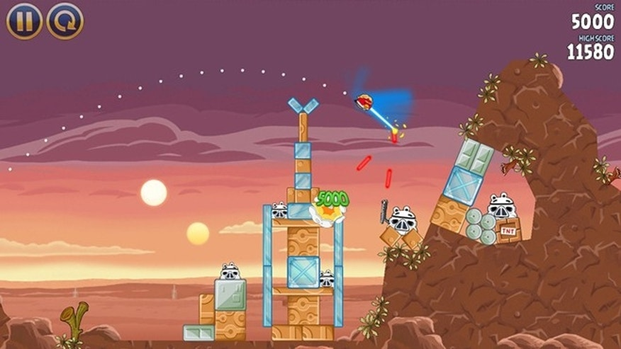 A scene from the new game 'Angry Birds Star Wars,' the latest in the popular franchise.