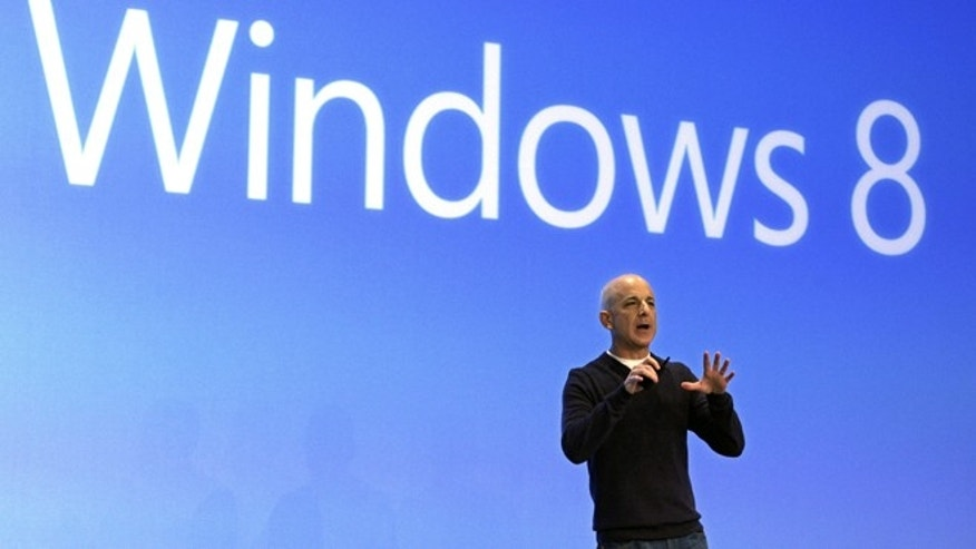 Oct. 25, 2012: Steven Sinofsky, then-president of the Microsoft Windows group, delivers his presentation at the launch of Microsoft Windows 8.