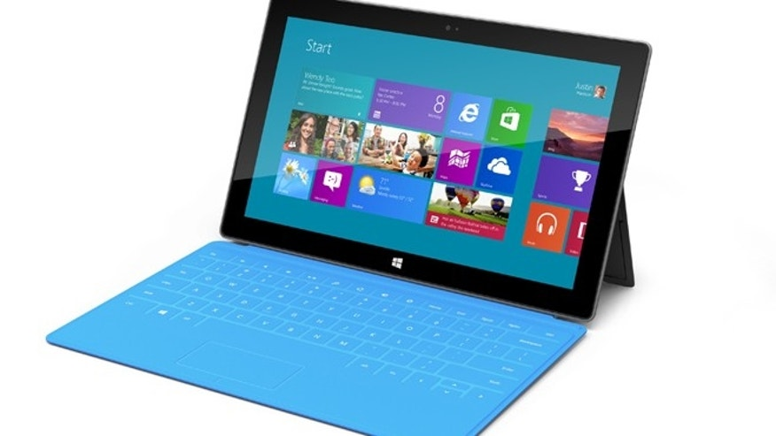 The Surface will come in a range of colorful hues, Microsoft said.
