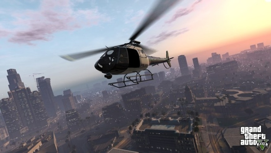 "A screenshot from the upcoming video game ""Grand Theft Auto V."""