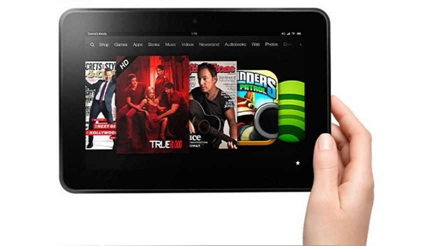 Amazon's Kindle Fire HD tablet.