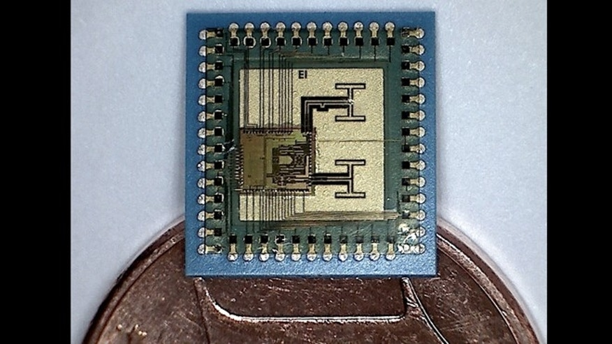 A tiny, 122-MHz radar system recently squeezed onto a microchip by a European consortium.