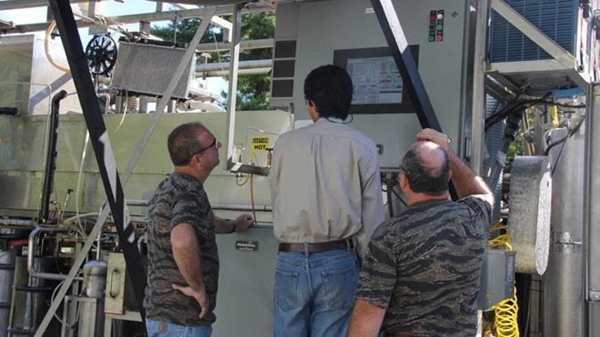 An automated interface with a touch-screen panel makes it easier for workers to input information and monitor every part of the machine. What used to take three technicians to operate TGER now takes two people: one person to feed the garbage and another person to monitor the progress.