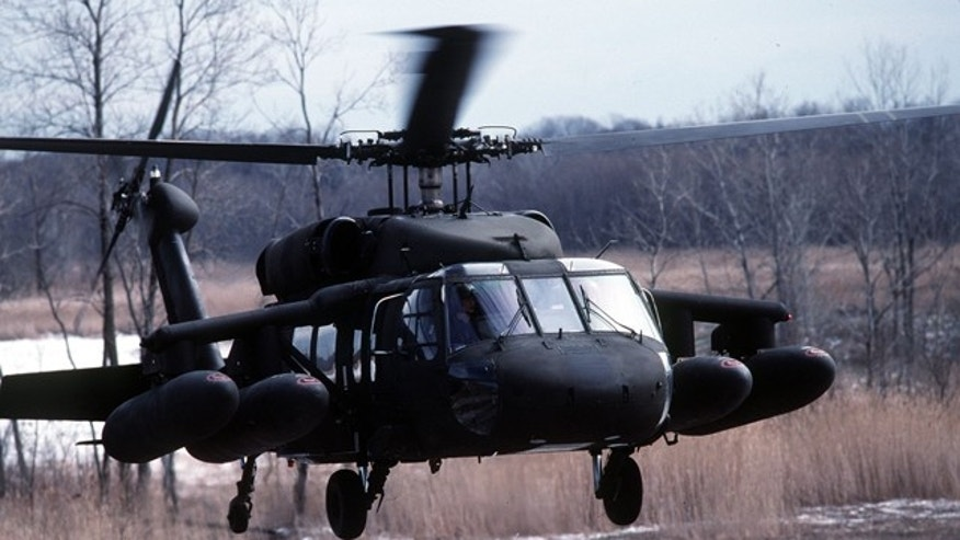A UH-60A Black Hawk helicopter takes off. Manufacturer Sikorsky has announced plans to develop an unmammed version of the popular helicopter.