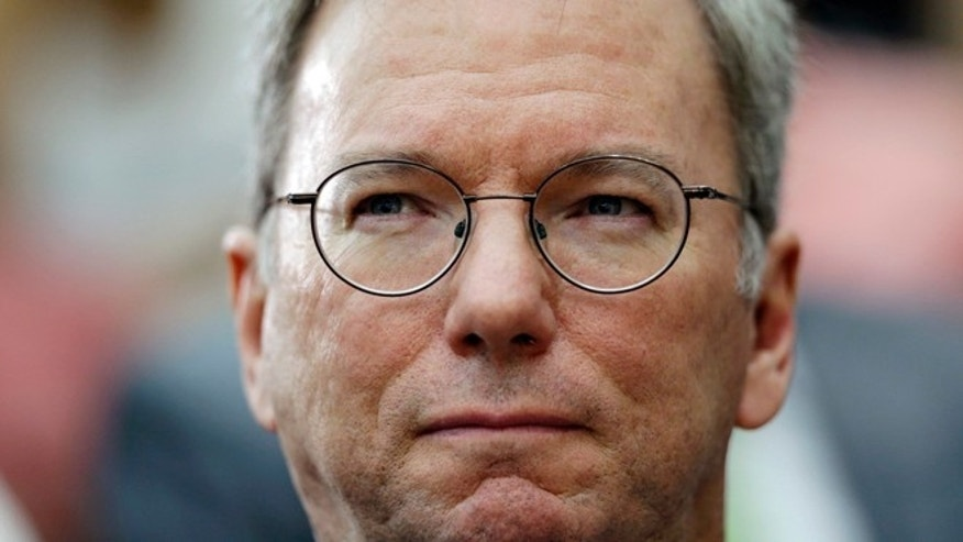 Sept. 28, 2012: Google executive chairman Eric Schmidt arrives for a seminar at Yonsei University in Seoul, South Korea.