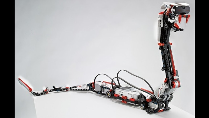 "Jan. 7, 2013: ""Reptar,"" a robotic snake that is one of 17 possible creations available in the new, $350 Lego Mindstorms EV3 platform that will have the ability to talk to iPhones, iPads and iPod Touches through Bluetooth wireless connections."