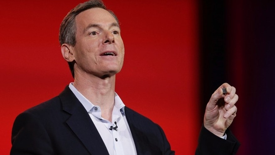 Jan. 7, 2013: Qualcomm CEO Paul Jacobs talks about the new 800 series Snapdragon processors during the keynote address at the Consumer Electronics Show.