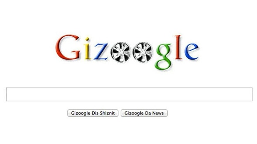"A screenshot of the website for Gizoogle, which translates search results into ""the slanguage used by Snoop Dogg."""