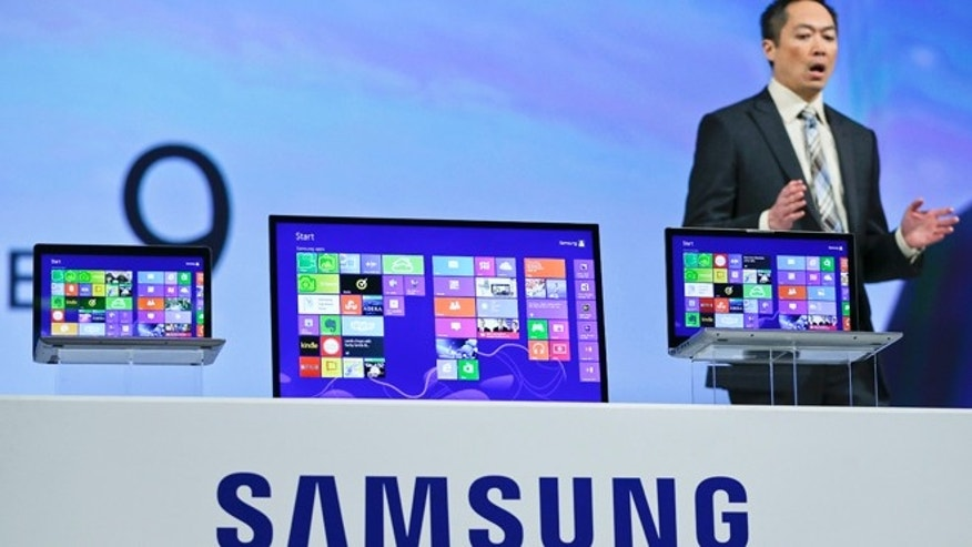 Jan. 7, 2013: Samsung senior vice president Michael Abary introduces the Series 7 Chronos during a news conference on press day at the Consumer Electronics Show.