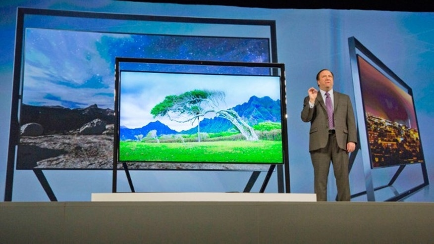 Jan. 7, 2013: Samsung Electronics executive vice president Joe Stinziano introduces Samsung's Ultra HDTV sets.