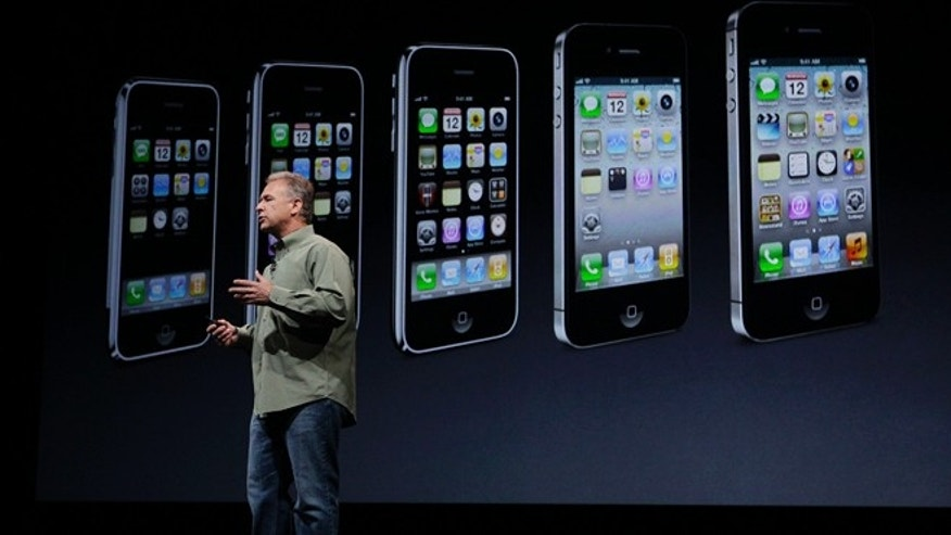 Sept. 12, 2012: Phil Schiller, Apple&#39&#x3b;s senior vice president of worldwide marketing, speaks on stage during an introduction of the new iPhone 5 at an Apple event in San Francisco.