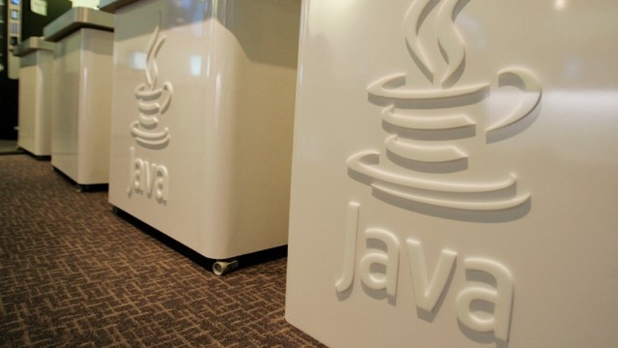 April 23, 2007: The Java logo is shown at Sun Microsystems' offices in Menlo Park, Calif.