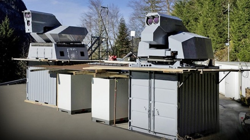 A laser weapon from German company Rheinmetall Group.