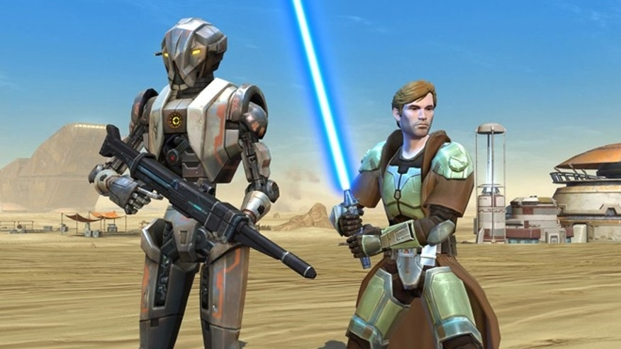 "A scene from the video game ""Star Wars: The Old Republic."""