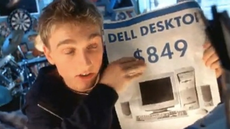 Ben Curtis, the Dell Dude, seen in a frame from one of his ads for the PC company.
