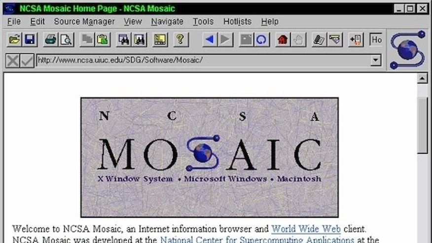 This is how the Web looked through the Mosaic browser.