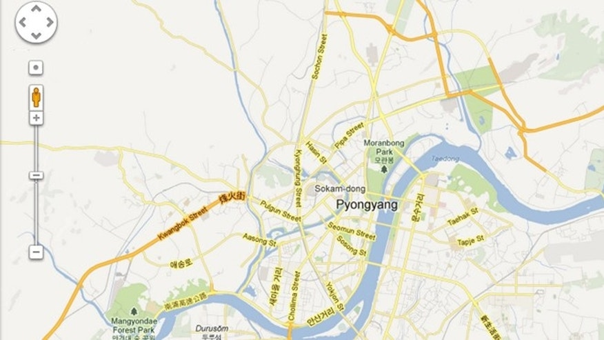 Jan. 29, 2013: Google revised its Maps application to add information for North Korea, which has been blank since it started providing maps online and for mobile devices eight years ago.