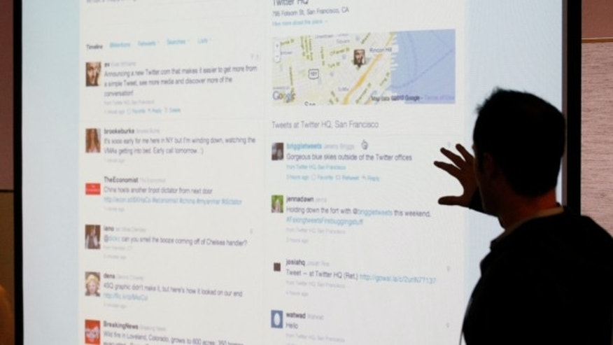 Sept. 14, 2010: Twitter CEO Evan Williams makes a presentation about changes to the social network at Twitter headquarters in San Francisco.