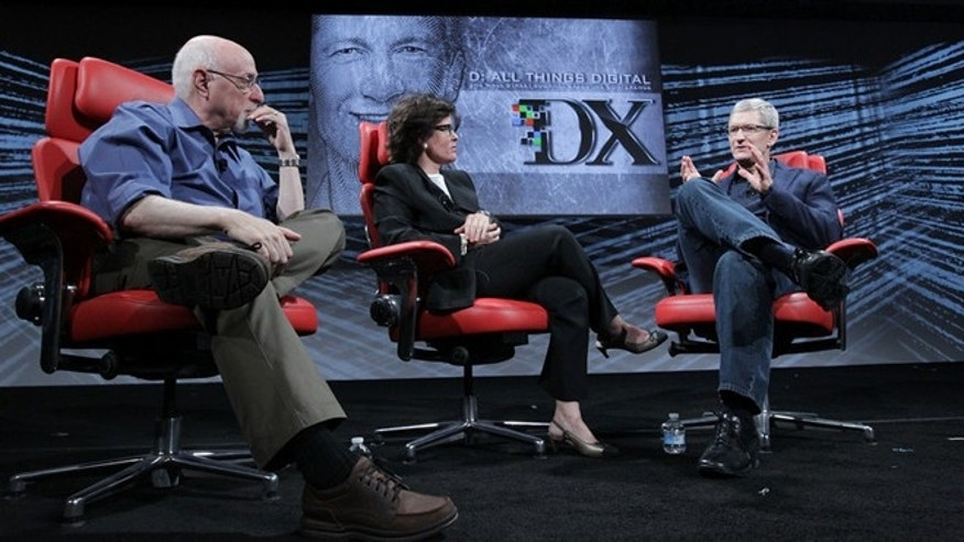 May 29, 2012: Apple CEO Tim Cook talks to Kara Swisher and Walt Mossberg of The Wall Street Journal at the 10th D:All Things Digital conference in Rancho Palos Verdes, Calif.