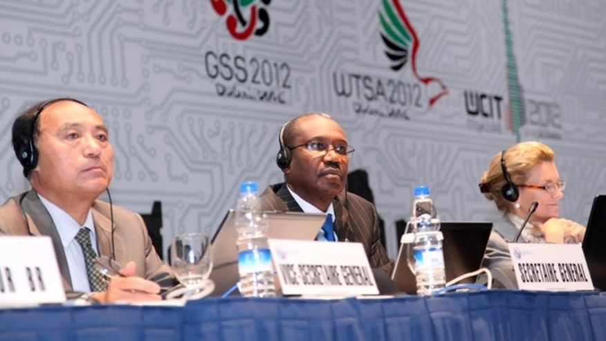 Dec. 11, 2012: Hamadoun I. Toure, Secretary-General of the U.N.'s International Telecommunications Union, listens during a panel at the group's 2012 meeting.