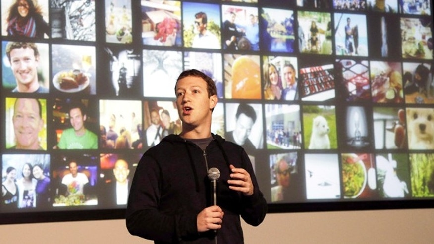 Jan. 15, 2013: Facebook CEO Mark Zuckerberg speaks at the company's headquarters in Menlo Park, Calif.