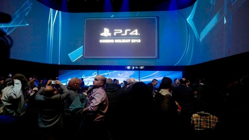 Feb. 20, 2013: People attend a news conference to announce the Sony Playstation 4 in New York.