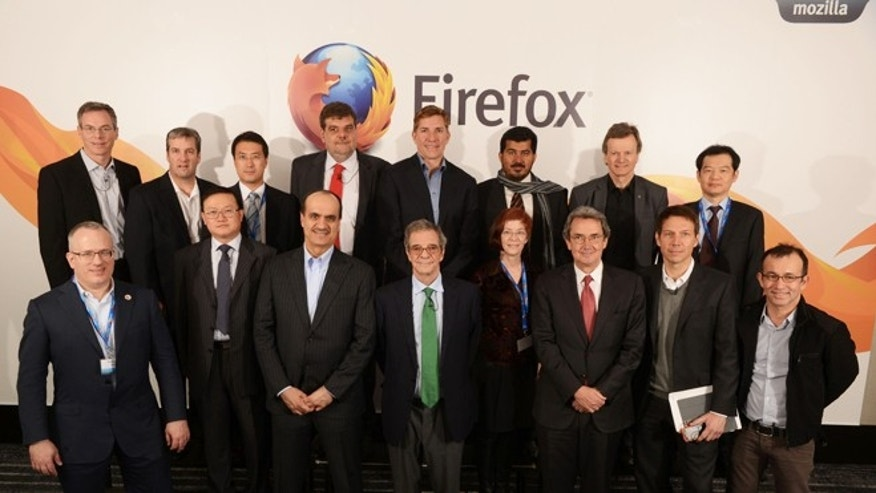 Feb. 24, 2013: Mobile CEOs gather at Mozilla&#39&#x3b;s press conference in Barcelona to announce the global expansion of the Firefox OS open mobile ecosystem.