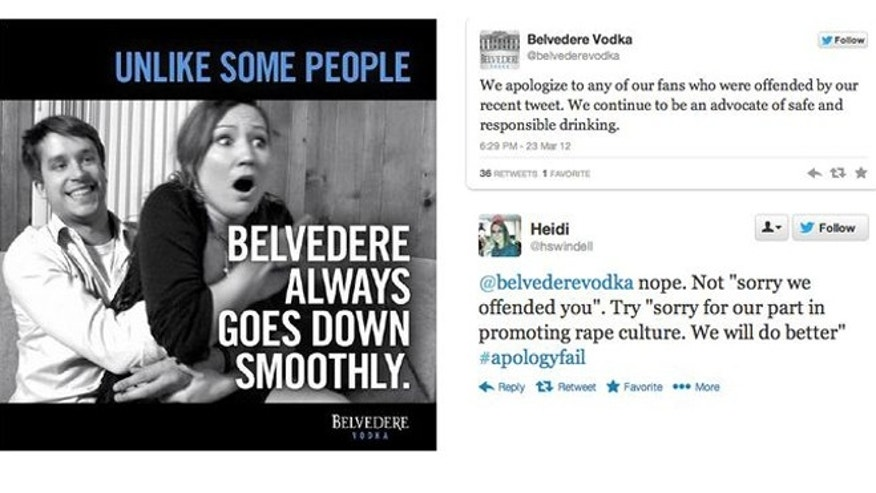 "Belvedere Vodka receives SUXORZ award for ""What were they thinking?"""