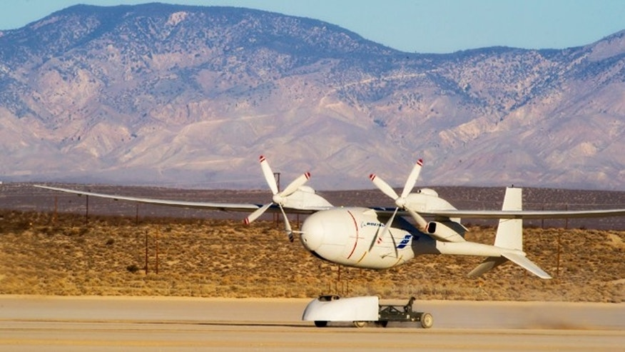 Feb. 25, 2013: Boeing&#39&#x3b;s liquid hydrogen-powered Phantom Eye unmanned airborne system completed its second test flight.