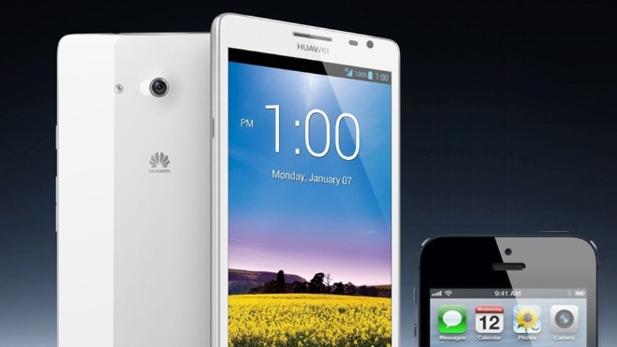 This newly announced smartphone from Huawei sports a 6.1-inch screen; meanwhile, the largest iPhone on sale in 2013 is expected to carry a 4-inch screen.
