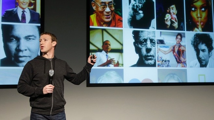 March 7, 2013: Facebook CEO Mark Zuckerberg speaks at Facebook headquarters in Menlo Park, Calif. Zuckerberg on Thursday unveiled a new look for the social network's News Feed, the place where its 1 billion users congregate to see what's happening with their friends, family and favorite businesses.